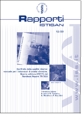 "Cover of the report ""Con Trollo della Qualitá interno"", italian version of the Nordtest report Trollboken NT TR 569 ed. 4"